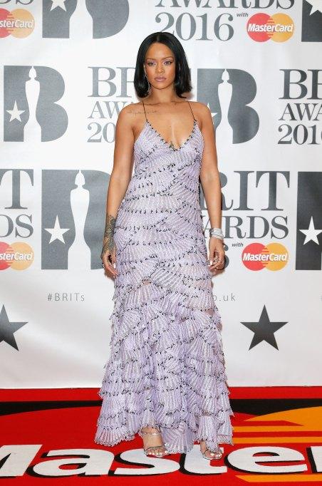 Rihanna spaghetti strap dress