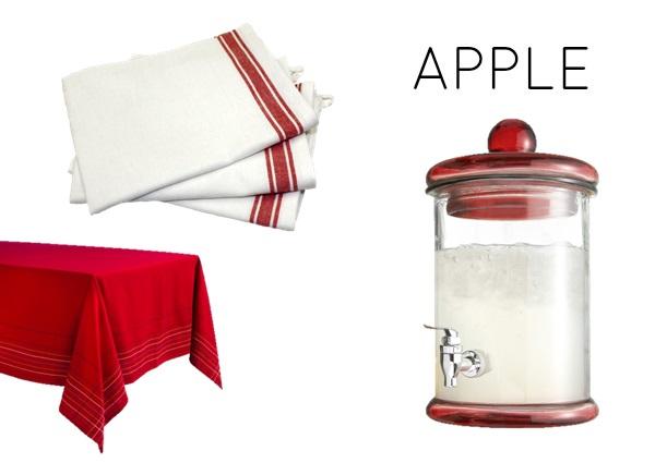 Apple color scheme for kitchen