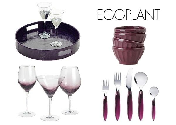 Eggplant color scheme for kitchen