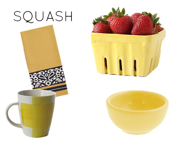 Squash color scheme for kitchen