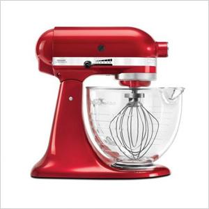 Kitchen aid red mixer