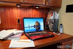 kitchen study area