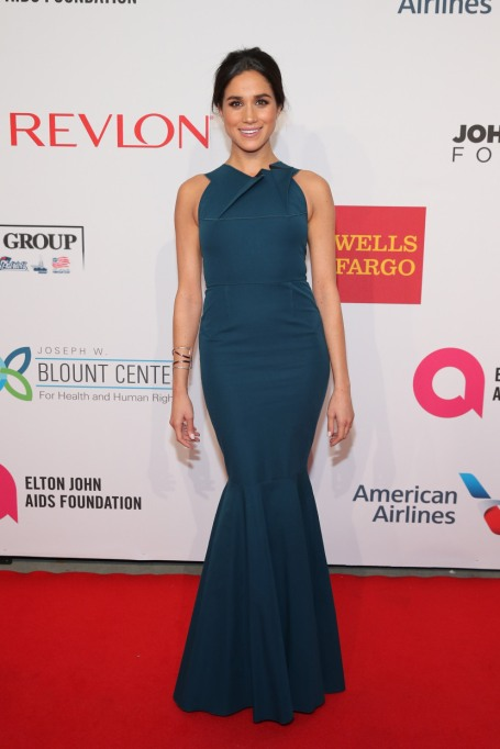 Meghan Markle's Most Fashionable Outfits | Attending the Elton John AIDS Foundation's 13th Annual An Enduring Vision Benefit