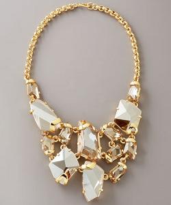 Kenneth Jay Lane Crystal Bib Necklace
