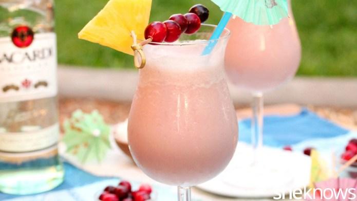 Piña colada hack: Add cranberry juice