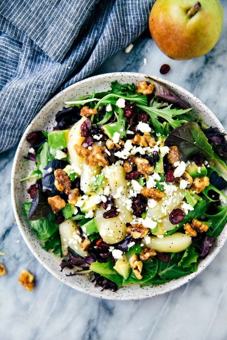 50 Easy Summer Salads: Candied Walnut And Pear Salad With A Lemon Poppyseed Dressing | Summer Eats
