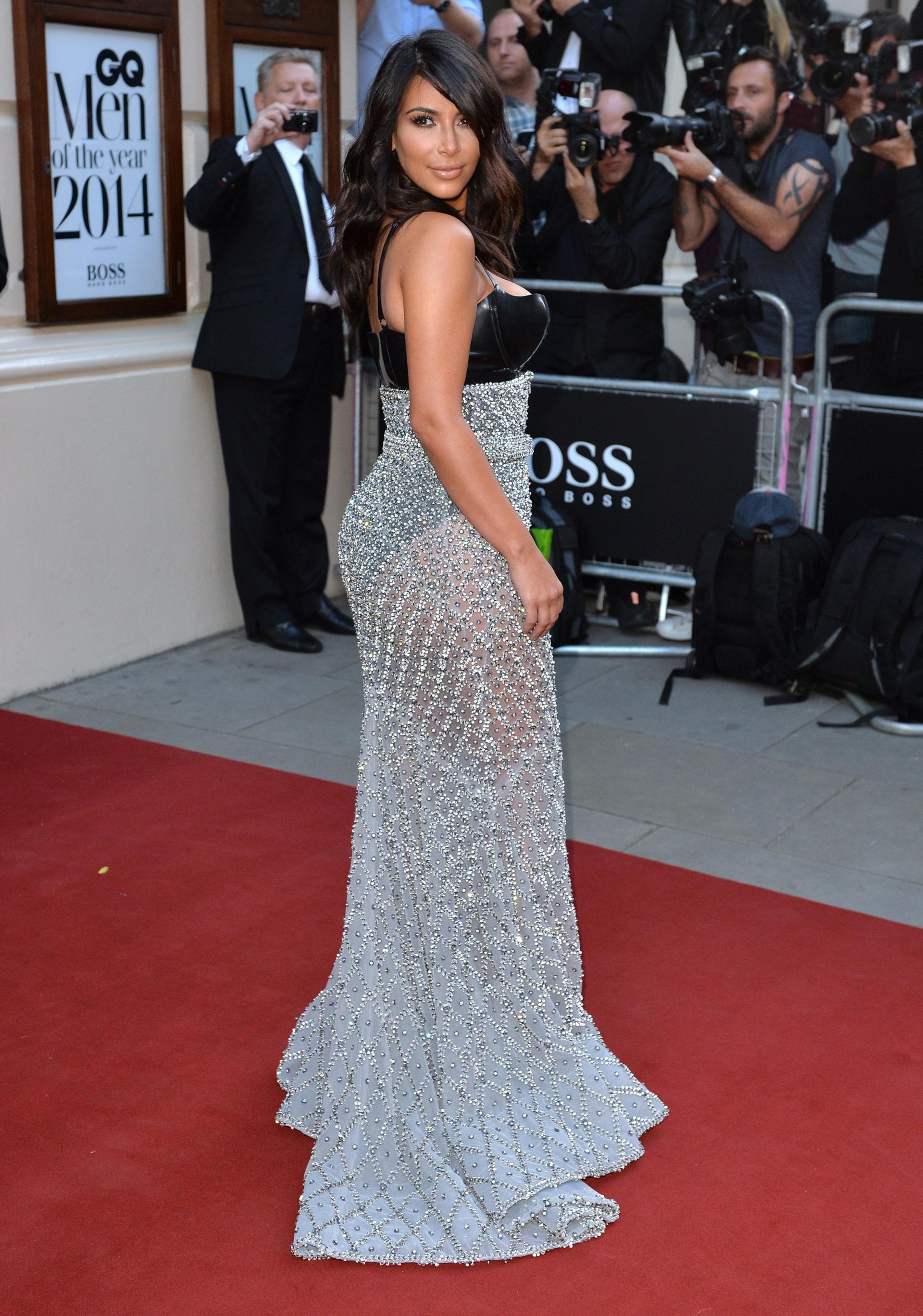Kim Kardashian in a Ralph & Russo gown