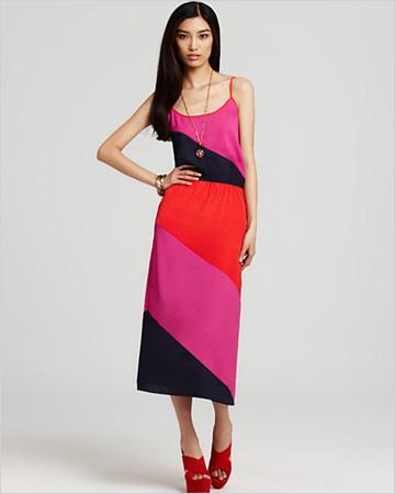 Cute color block dresses for under