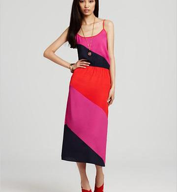 Cute color block dresses for under