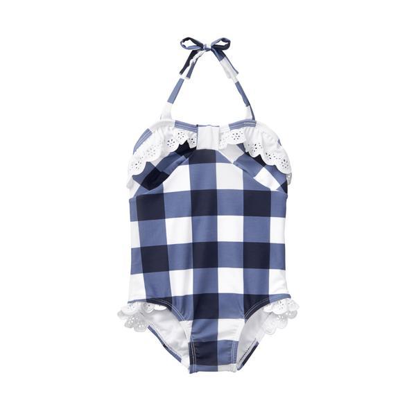Gingham Eyelet Swimsuit