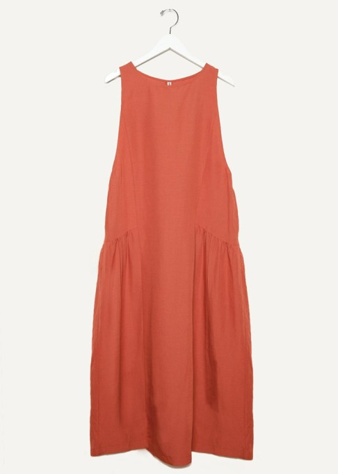 The Most-Pinned Summer Fashion Trends of 2017: The Open Product Rust Sleeveless Long Linen Dress | Summer Fashion Trends