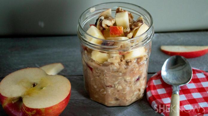 Hassle-free overnight apple walnut oatmeal recipe