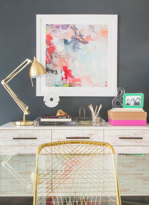 How to Decorate Small Spaces: Use art pieces to bring life to a small room.