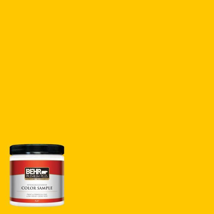 yellow paint sample Home Depot