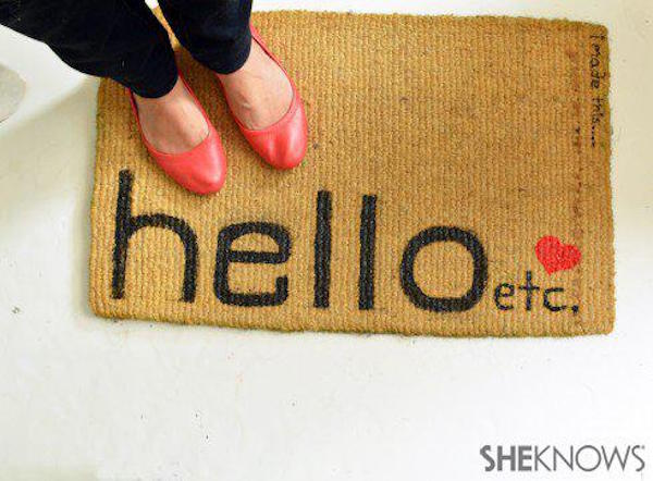 18 Stylish DIY door mats to