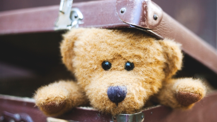 Cute old fashioned style teddy bear
