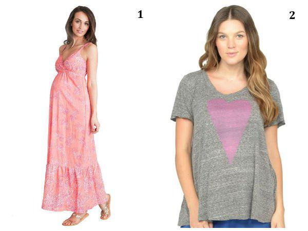 Maternity fashions for Valentine's Day