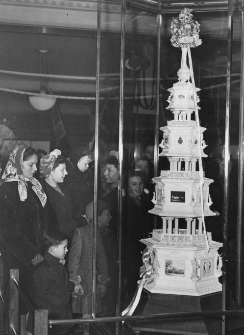 Replica of the Royal wedding cake for Queen Elizabeth