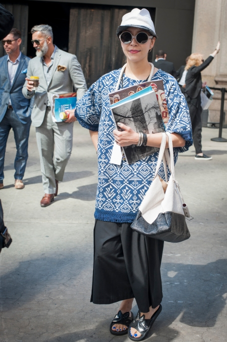 Fashion week street style tunic outfit