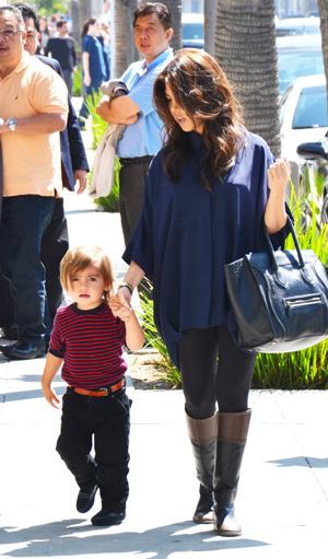 Kourtney Kardashian and Mason