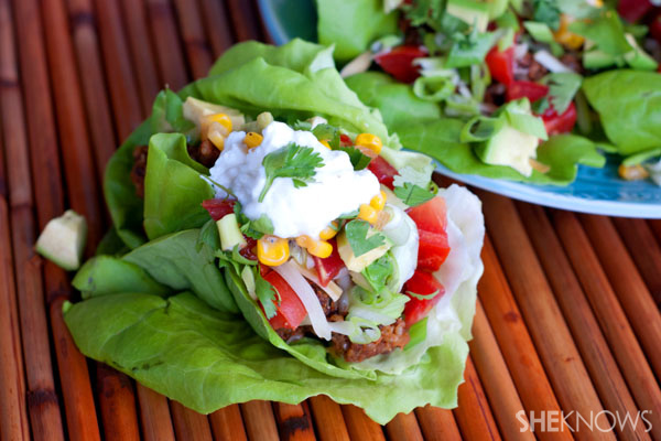 Mexican-style lettuce wraps