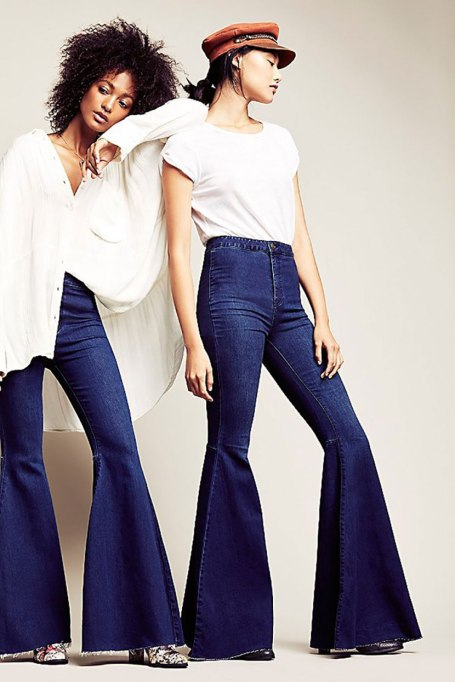 Cool Denim For Fall: Bell bottom belles | Fall Fashion 2017