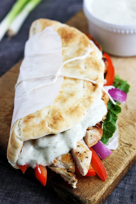 Sandwiches and Wraps for a Healthy Lunch | Easy Chicken Gyros & Tzatziki Sauce