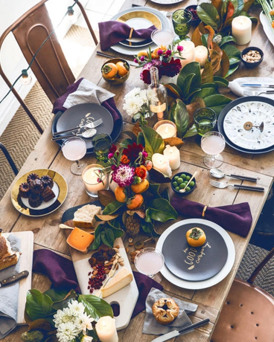 18 Homemade Thanksgiving Table Ideas That Even the DIY-Challenged Can Manage: Beautiful brunch