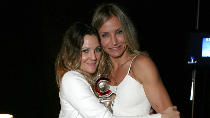 Drew Barrymore and actress Cameron Diaz
