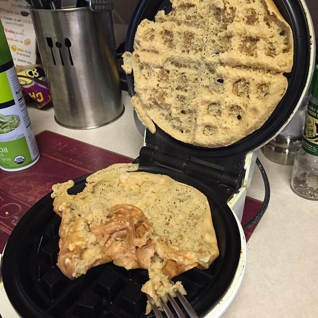 Messy waffles