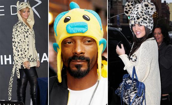 Weird celebrity winter hats