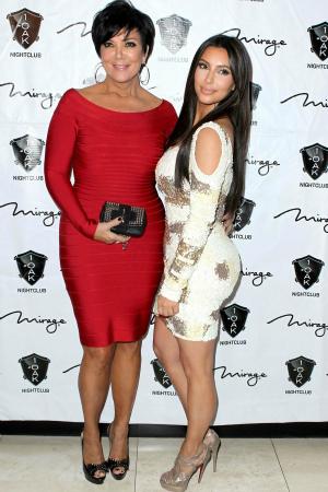 Kris Jenner and Kim Kardashian in Las Vegas