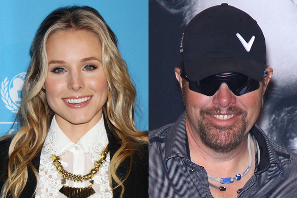 Kristen Bell and Toby Keith hosting 2012 CMT Music Awards