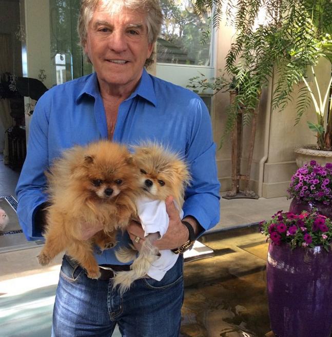 Ken Todd with his pet pooch