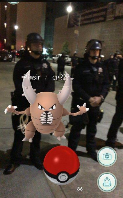 Pokémon at a protest