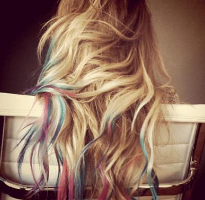 Would you rock rainbow hair like