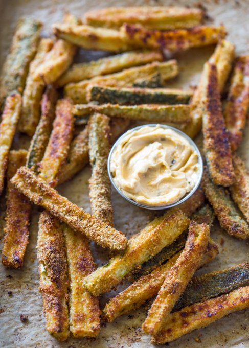 Healthy French Fry Recipes | Summer Eats | Baked zucchini fries