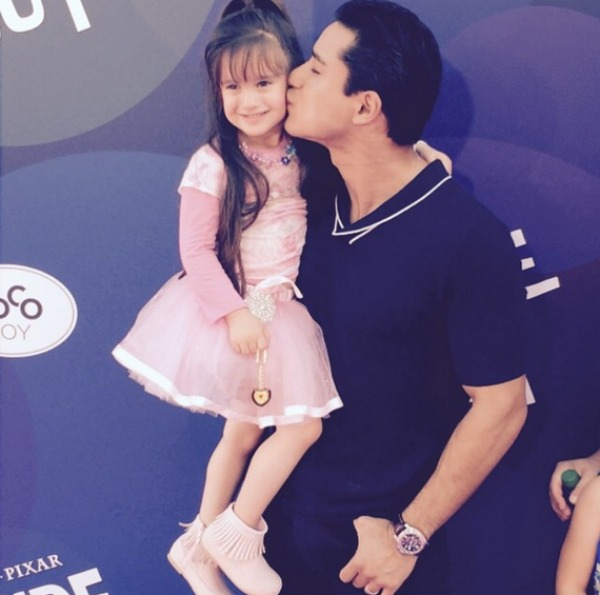 Mario Lopez and his daughter Gia