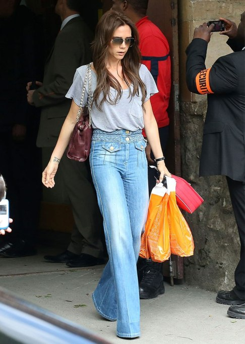 Celebrities Who Wore Wide Leg Jeans and Looked Damn Good | Victoria Beckham