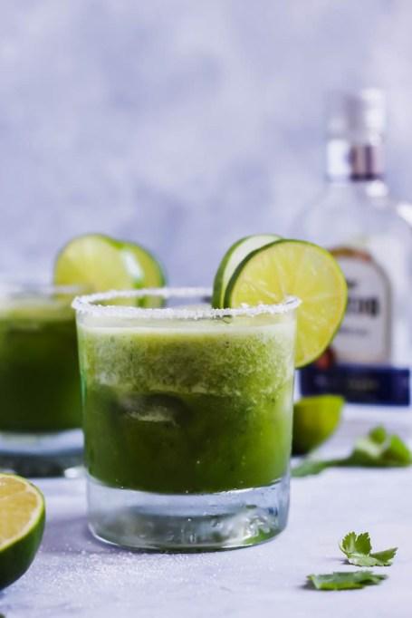 Cucumber Cilantro Margaritas