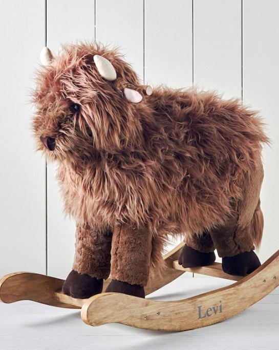 Look inside Hannah Simone's Americana-chic nursery: Pottery Barn Junk Gypsy Rocker Bison