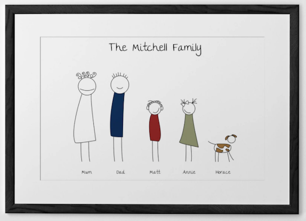 Personalized family art