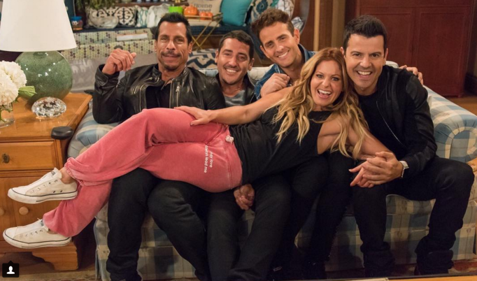 New Kids on the Block and Candace Cameron Bure