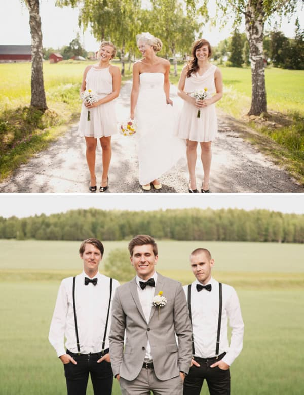 Small Sweden wedding party