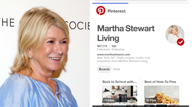 Celebs on Pinterest: Martha Stewart