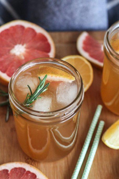 Citrus-rosemary kombucha