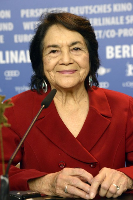 Dolores Huerta giving speech