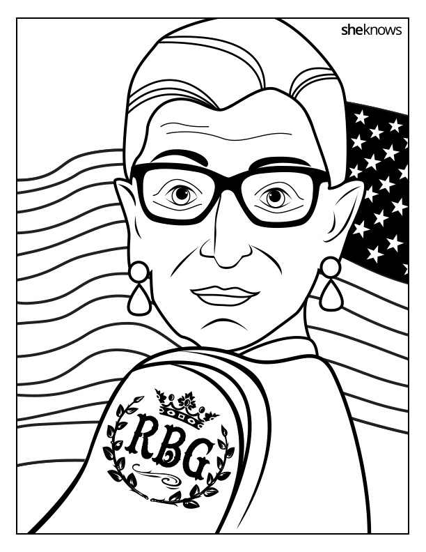 Printable Ruth Bader Ginsburg Coloring Book – SheKnows