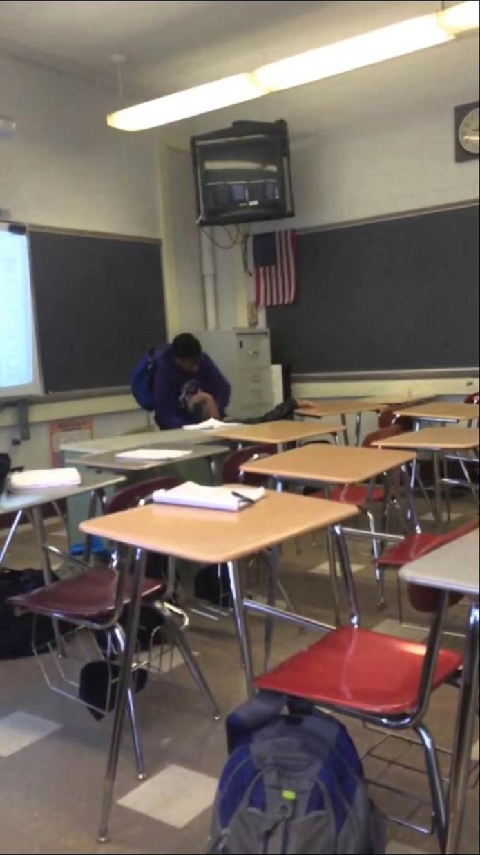 High school student attacked a teacher