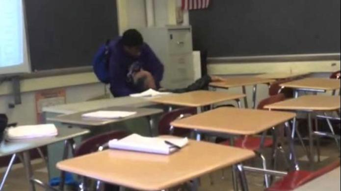 High school student attacked a teacher